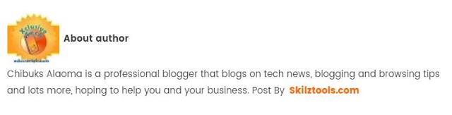 Design a Guest Post Author Profile