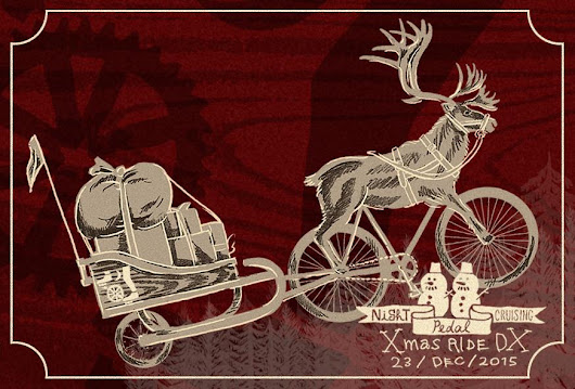 Night Pedal Cruising Christmas Ride Deluxe 2015 in Tokyo