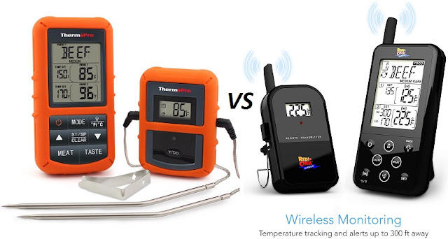 thermopro tp20 vs maverick et733 food thermometer