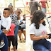 Tonto Dikeh & her son, King Andre spotted at an Easter outreach for IDP women in Abuja
