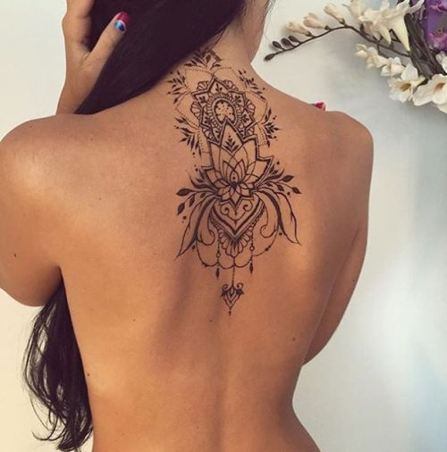 Stunning Lotus Tattoo on Back