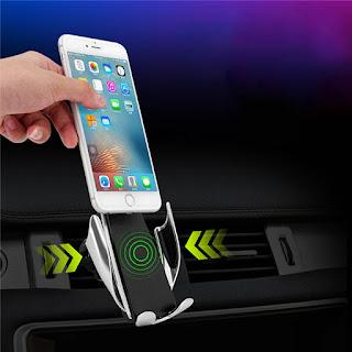 caricatore per auto wireless a morsetto s5