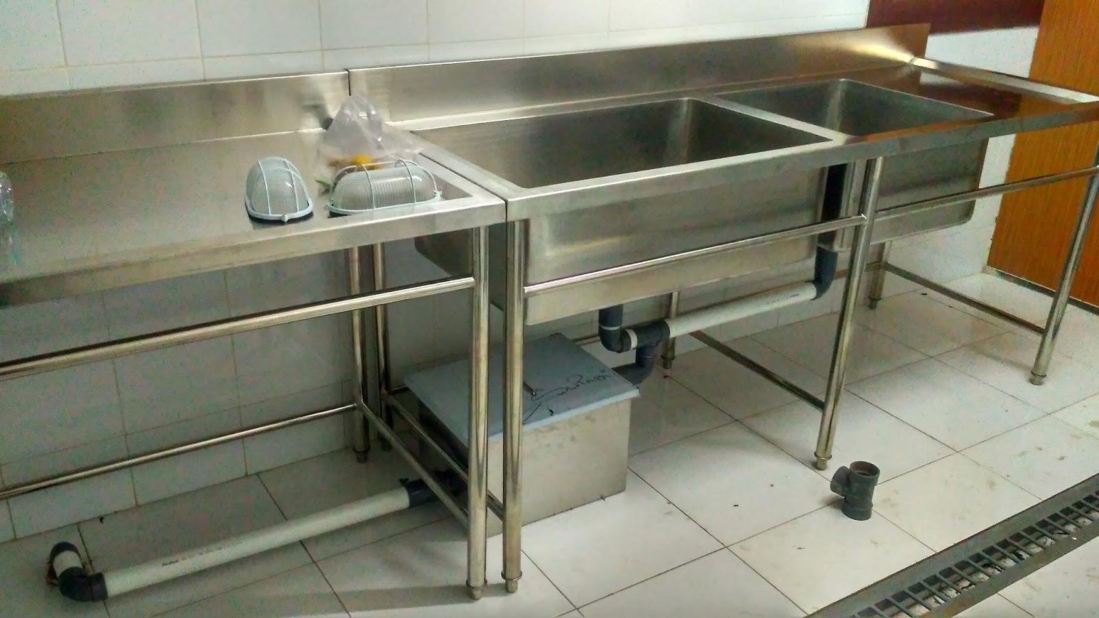 Sink table bak cuci piring stainless steel bowl sink for Kitchen set lampung