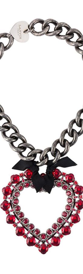 LANVIN Oversized Heart Pendant Necklace