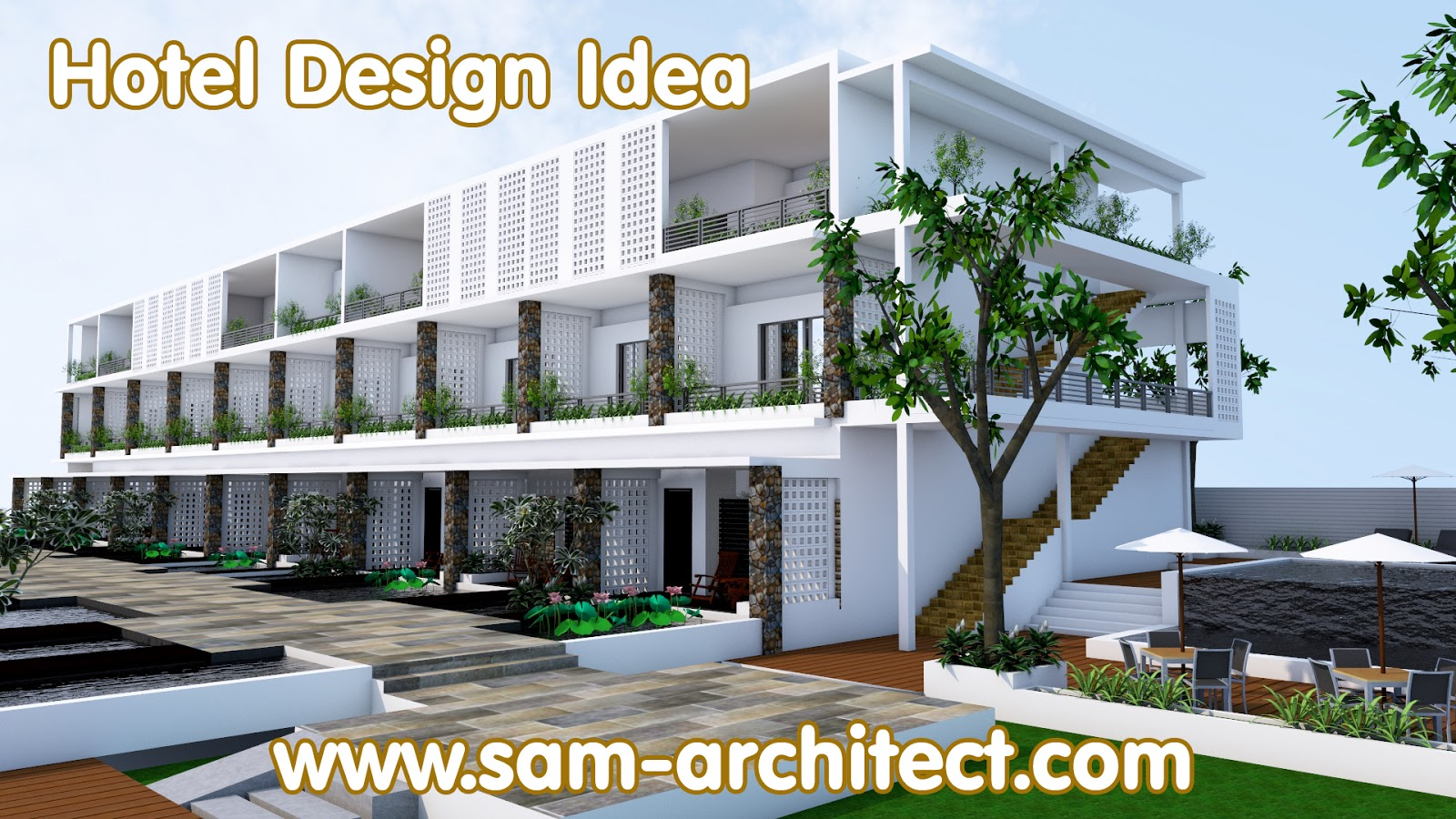 Sketchup hotel design idea samphoas 01 sam architect for Hotel ideal design