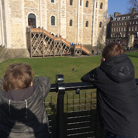 Boys at the Tower of London