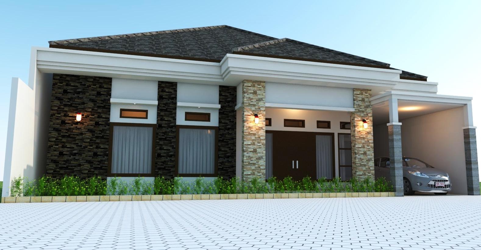 Desain Rumah 1 Lantai Lebar 10 M Type 280 Milik Bu Hartini Maros Jasa Desain Rumah