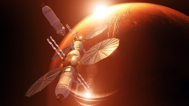 Orion docking with Lockheed Martin Mars Base Camp