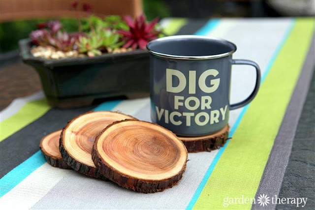 DIY branch slice coasters eatured at Talk of the Town - KnickofTime.net