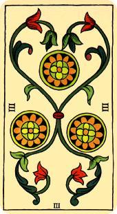 Tarot de Marsella: Tres de Oros