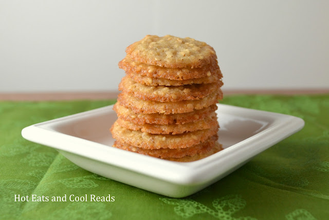 Benne Wafers aka Sesame Seed Cookies Recipe from Hot Eats and Cool Reads! These small and delicious cookies are chewy and such a great snack for Christmas, holidays or with coffee! Traditionally from Tanzania and other countries in East Africa but now also common in Southern United States!