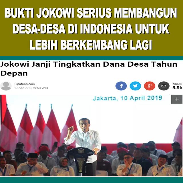 Jokowi Janji Tingkatkan Dana Desa Tahun Depan