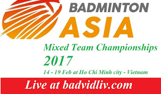 Asia Mixed Team Championships 2017 live streaming and videos
