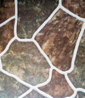 Keramik motif batu pipih besar dof