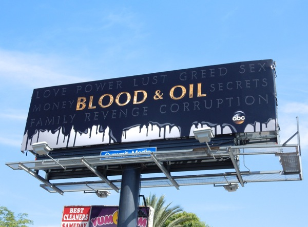 Blood & Oil series teaser billboard