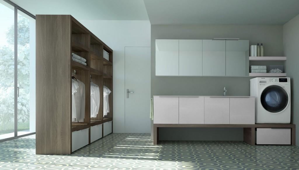 4bildcasa come arredare la lavanderia - Mobili per lavanderia di casa ...
