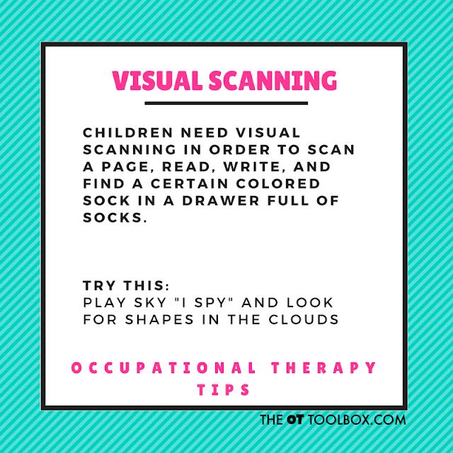 Visual scanning activity