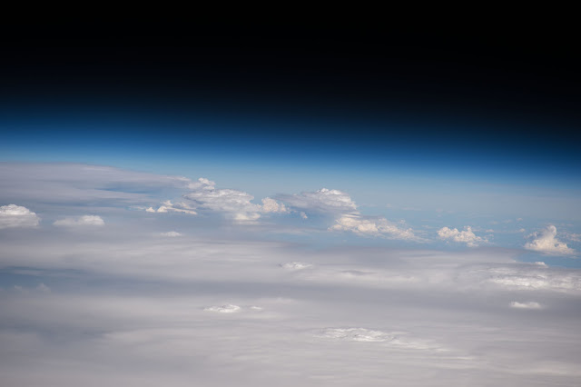 Clouds and Earth's Atmosphere seen from the International Space Station