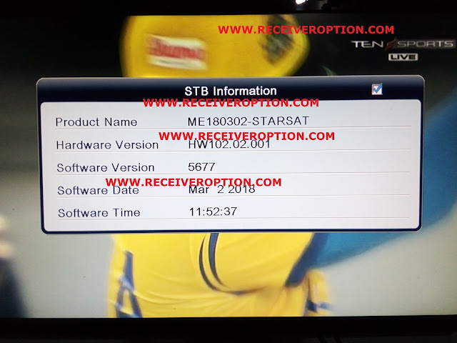 STARSAT SR-2070HD PRIME RECEIVER POWERVU KEY NEW SOFTWARE