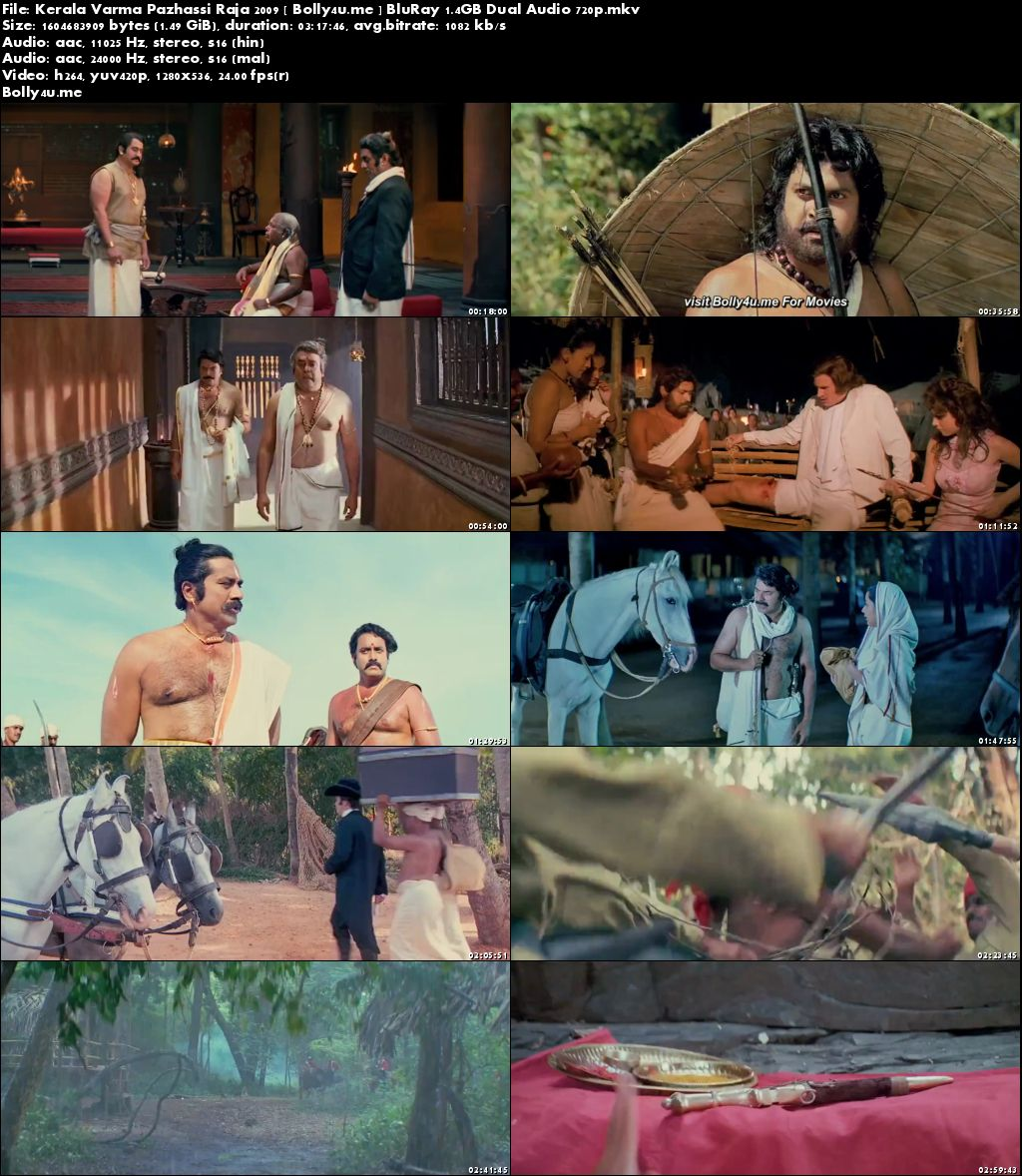Kerala Varma Pazhassi Raja 2009 BluRay Hindi Dual Audio 720p Download