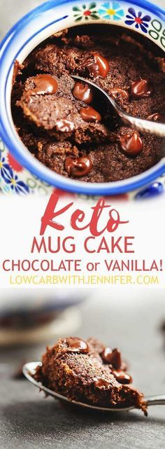 Keto Mug Cake - Chocolate or Vanilla!