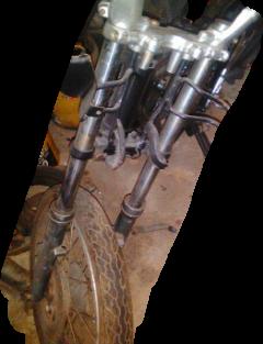 Gambar.Komponen dalaman fork depan motor
