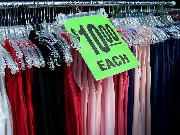 Vêtements en soldes