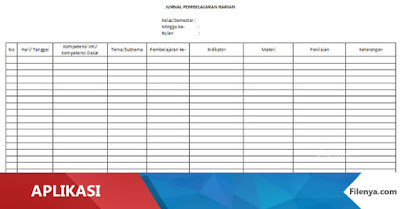 Download Jurnal Harian Guru Kurikulum 2013 Thn 2016-2017