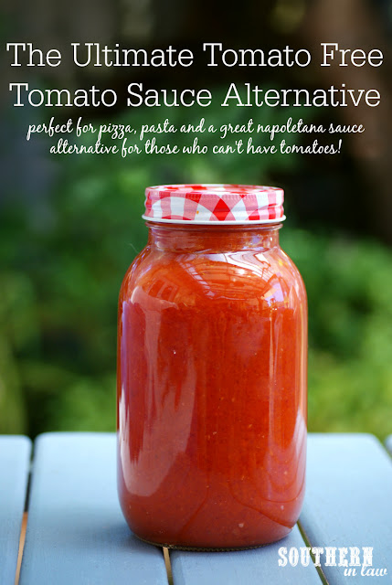 The Ultimate Tomato Free Tomato Sauce Recipe - tomato free, nightshade free, tomato intolerance, nightshade intolerance, gluten free, vegan, egg free, dairy free, nut free, allergy friendly recipes, homemade nomato sauce