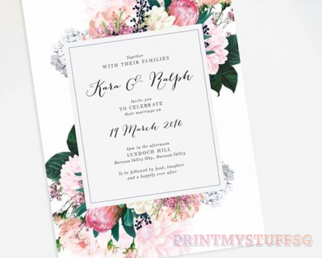 Wedding Card Customised Day Invitation Invite Insert Printmystuffsg We Print Your Needs