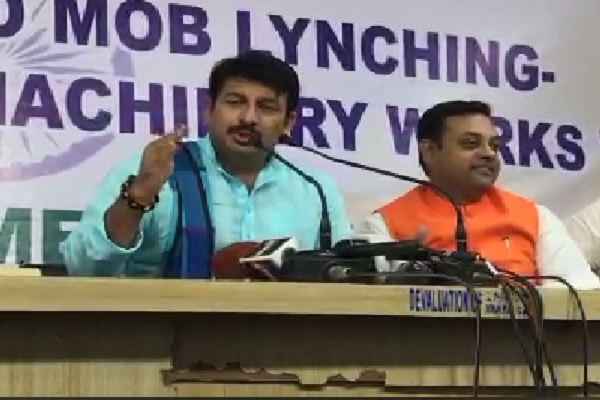 manoj-tiwari-speech-on-fake-intolerance-and-mob-lynching