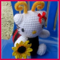 Kitty mariquita amigurumi