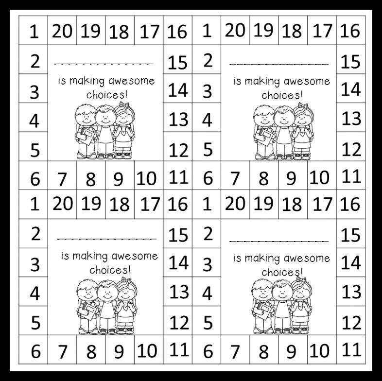 Behavior Punch Cards Mrs B S Beehive
