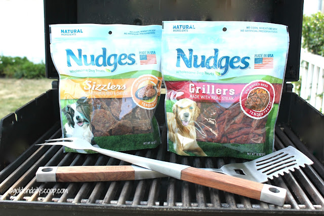 Nudges Wholesome Dog Treats perfect for a barbecue