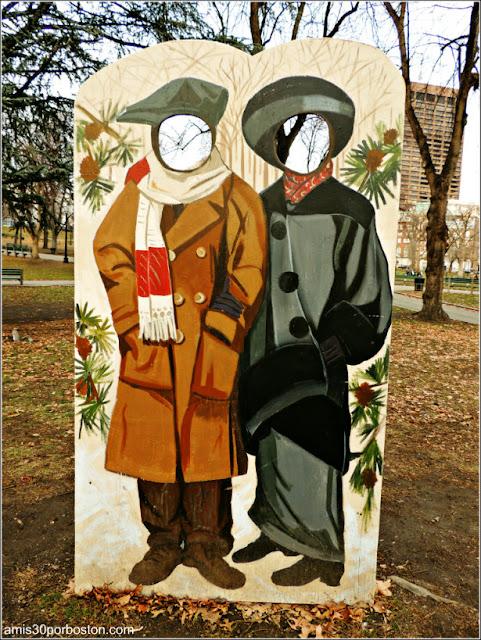 Escenarios de Fotos Navideñas en el Boston Common