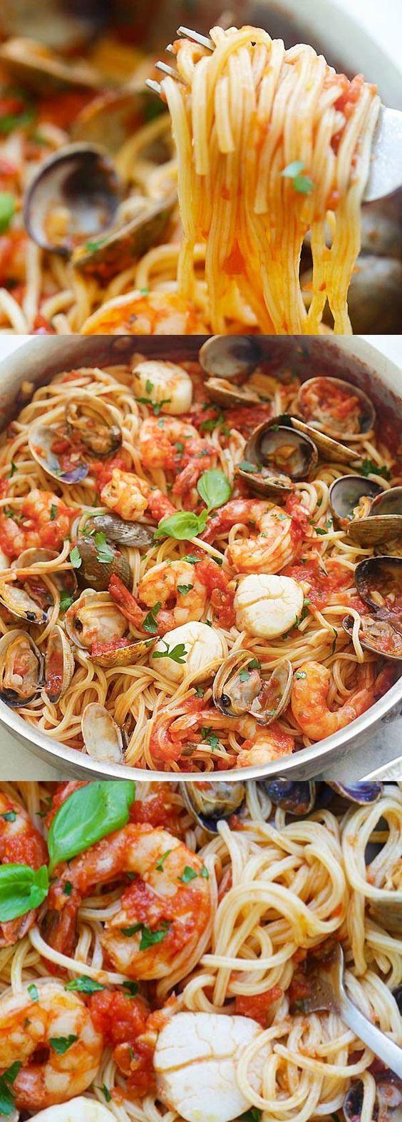 One Pot Seafood Pasta Recipe