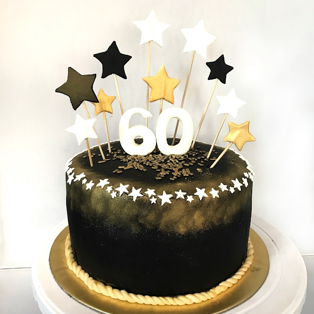 60th birthday cake ideas sherbakes black and gold 60th birthday cake 1170