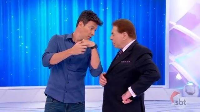 """Rodrigo Faro vai até SBT pedir permissão para interpretar Silvio em filme e diz: """"Não faria se o desagradasse"""""""