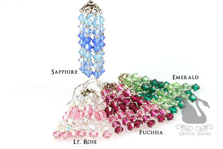 Swarovski Crystal Chandelier Earrings (E070-E073) -all crystal colors