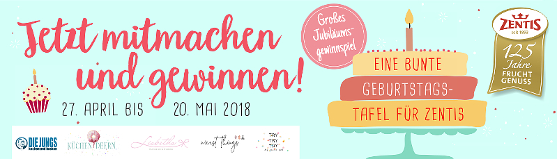 Zentis Geburtstagstafel Jubiläum 125 Jahre Zentis