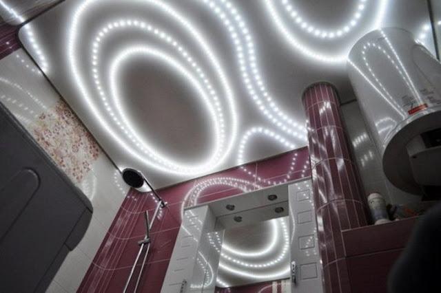 stretch ceiling led lighting and Fiber optics