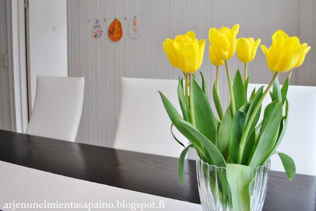kevät, sisustus, keltainen, pääsiäinen
