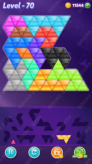 Block! Triangle Puzzle Champion Level 70 Solution, Cheats, Walkthrough for Android, iPhone, iPad and iPod