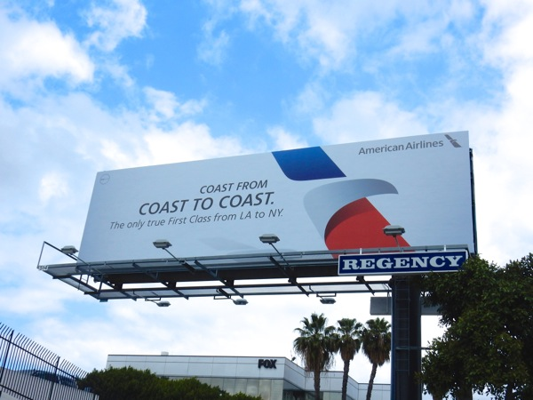 American Airlines coast to coast billboard