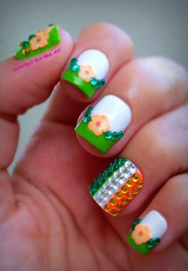 20+ Green Nail Art Ideas For Summer
