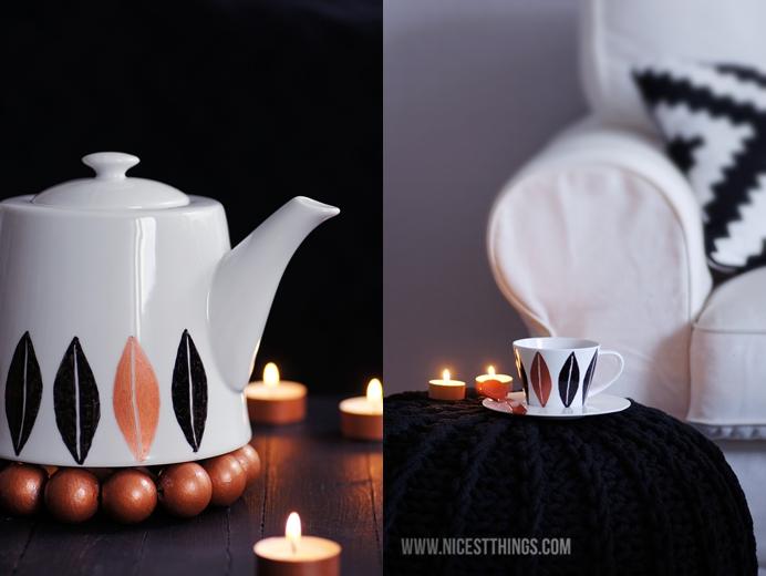 DIY Geschirr bemalen Kupfer Porzellanfarbe