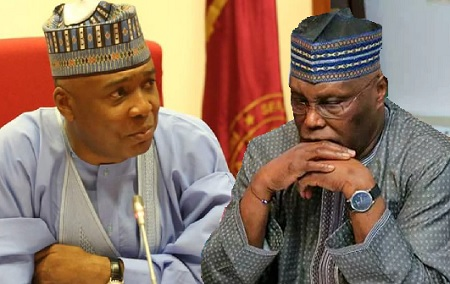 Saraki, Atiku React To FG's Refusal To Allow Kwankwaso Use The Eagles Square