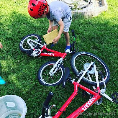 Radfahren im August