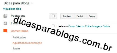 Novo Painel do Blogger