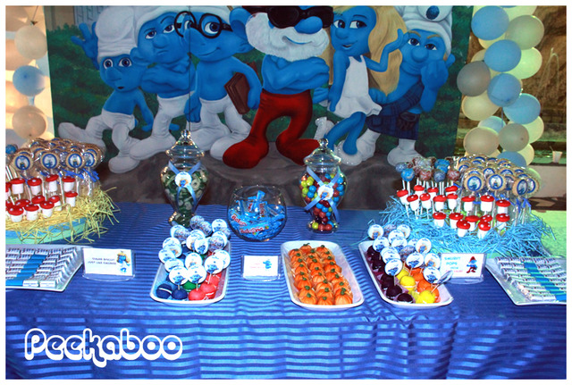 Image result for smurf party ideas